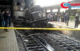 Kahire'de tren istasyonunda yangın: 25 ölü,...