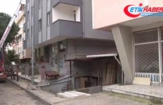 Kartal'daki Nuri Bey apartmanı yıkılmak üzere...