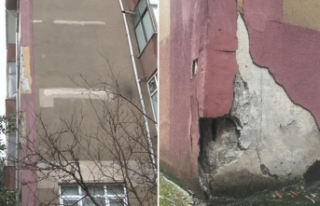 Maltepe'de 6 yıldır riskli binalarda tehlikeli...