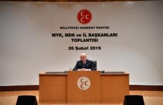 MHP Lideri Bahçeli: Zilletin bir numaralı destekçisi...