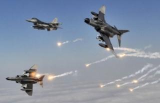 Milli Savunma Bakanlığı'ndan hava harekatı...