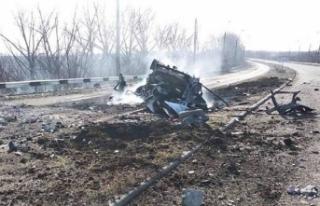 Ukrayna'da minibüs geçerken mayın patladı: 2...