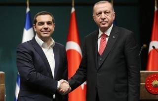 Yunan basını Erdoğan-Çipras görüşmesini manşete...