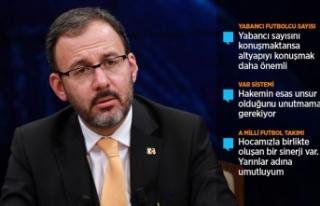 Bakan Kasapoğlu: Altyapı bizim vazgeçilmezimiz...