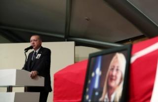 Erdoğan Dedeoğlu'nun cenaze töreninde konuştu