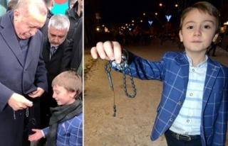 Erdoğan'ın küçük Muhammed'e hediye...