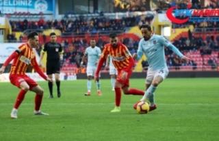 Lider İstikbal Mobilya Kayserispor ile berabere kaldı
