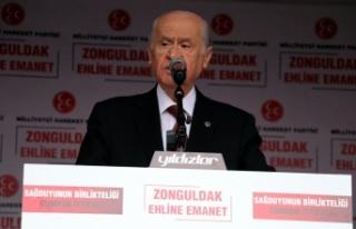 MHP Lideri Bahçeli: CHP, PKK'nın siyasi acentesi...
