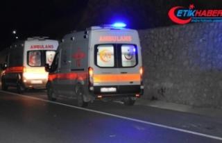 MKE Ankaragücü taraftarlarını taşıyan midibüs...