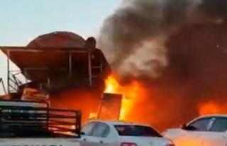 Öfkeli pilot eşinin bulunduğu binaya çarptı