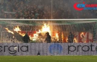 Panathinaikos-Olympiakos maçı olaylar nedeniyle...