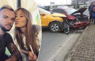 Rizespor'un Ukraynalı futbolcusunun eşi kazada...