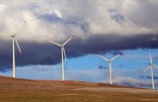 Türkiye'nin ikinci büyük rüzgar enerji santralinde...