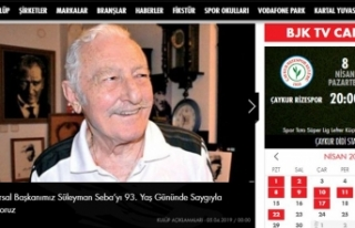 Beşiktaş Süleyman Seba'nın doğum gününü...