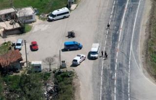 Bursa'da helikopterli huzur uygulaması: 34 gözaltı