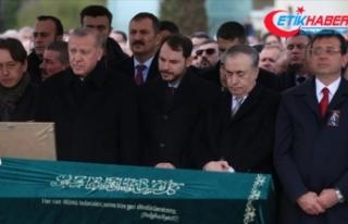 Cumhurbaşkanı Erdoğan, cenaze namazına katıldı