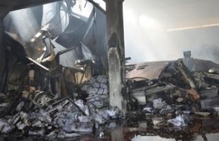 Denizli'de, yangın çıkan fabrikada 4 milyon...