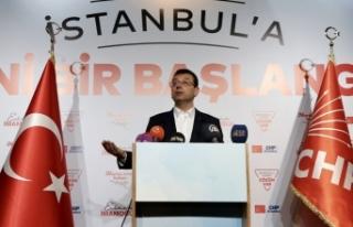 İmamoğlu: İstanbulumuza bugünkü seçimin neticeleri...