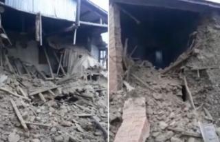 Elazığ'da deprem hasarı gün ağarınca ortaya...