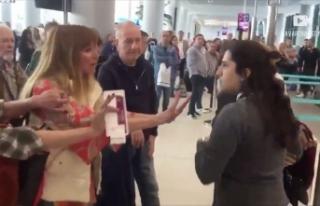 Kadın yolcunun havalimanı çalışanına hakareti...