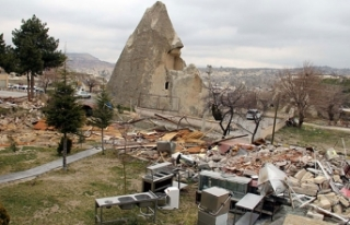 Kapadokya'da 100'e yakın kaçak yapı yıkılacak