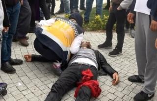 Karısını döven kişiyi bıçakladılar