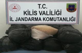 Kilis'te PKK'nın 1 milyon 500 bin uyuşturucu...