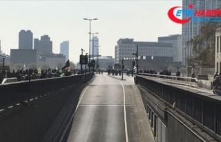 Londra'da çevreciler yolları kesti