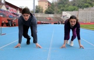 Milli atletlerin hedefi çifte başarı