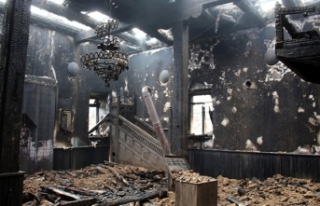 Miraç Kandili gecesi camide yangın