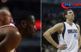 Nowitzki ve Wade'den NBA'e veda