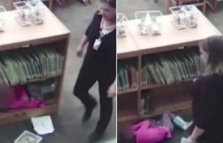Öğretmenin 'darp' yalanını güvenlik kamerası...