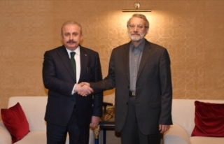 TBMM Başkanı Şentop İran Meclis Başkanı Laricani'yle...