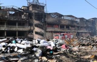 Tekstil fabrikasındaki yangının zararı 60 milyon...