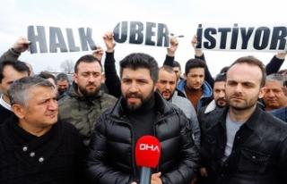 Uber sürücülerinin Ankara'ya girişine izin...