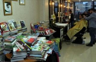 Ücretsiz tıraşla toplanan kitaplar köy çocuklarına...