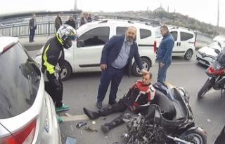 Unkapanı Köprüsü'nde zincirleme kaza: Yaralanan...