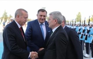 Bosna Hersek Devlet Başkanlığı Konseyi üyeleri...