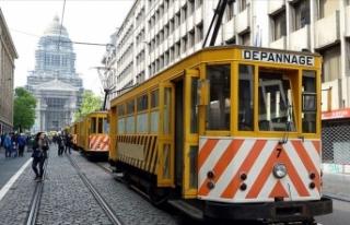 Brüksel'de 150 yıllık tramvaylar görücüye...