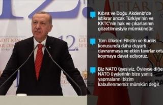 Cumhurbaşkanı Erdoğan: Çifte standartlı yaklaşımın...