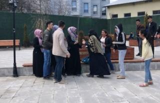 Kars'ta 'çocuğa şiddet' sosyal deneyi