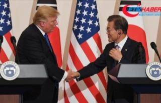 Moon'dan Kuzey Kore'ye karşı ABD ile ortak...