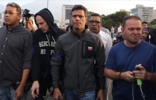 Venezuela'da muhalif lider Lopez İspanya Büyükelçiliğine...
