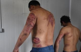 Yunan polisi Pakistanlı göçmenleri dövüp Türkiye'ye...