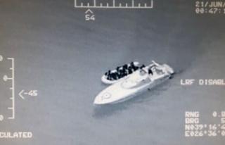 Ayvalık'ta 41 kaçak göçmen yakalandı