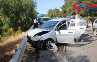 Bayram tatili kazalarla başladı, 4 araç birbirine...