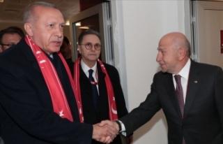 Cumhurbaşkanı Erdoğan, TFF Başkanı Özdemir ile...