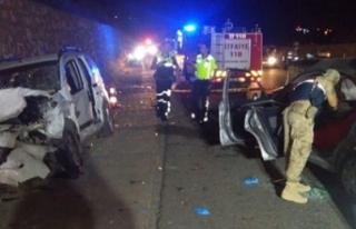 İzine giden Uzman Çavuş ve arkadaşı trafik kazasında...
