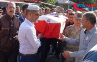 Kars'ta teröristlerce katledilen çobanın cenazesi...