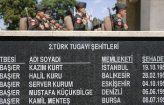 Kore'de Savaşan Türkler Anıtı'nda anma...